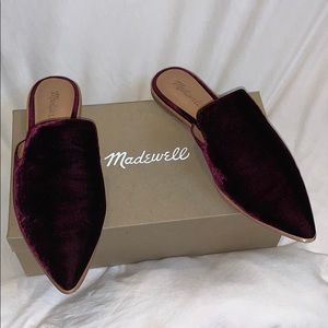 Madewell slipper mules in velvet
